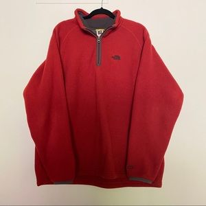 The North Face Men's Large Fleece Sweater Orange